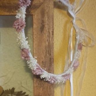 Corona comunión rosa pal