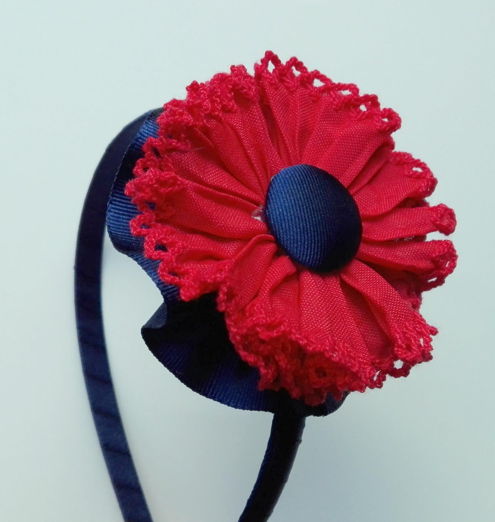 Diadema flor plisada 6865d7bfe59
