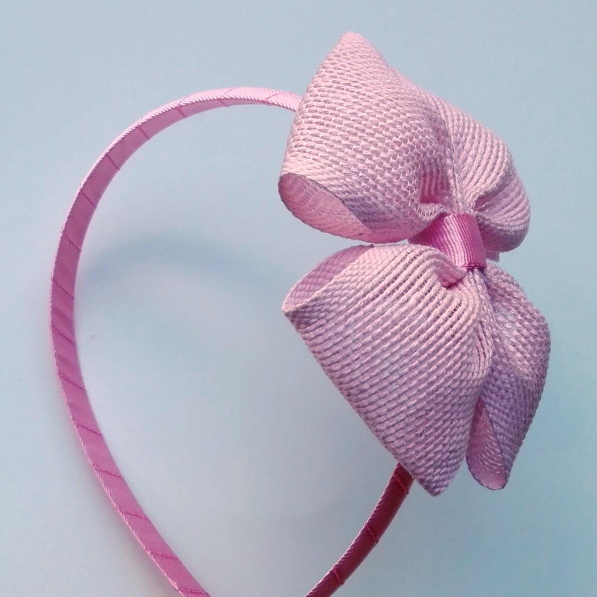 seco Premedicación Eliminación  diadema lazo rafia rosa