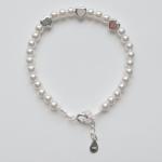 pulsera plata y perlas